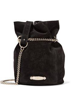 Lanvin | Aumoniere mini suede bucket bag | NET-A-PORTER.COM