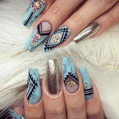 Stunning tribal nails