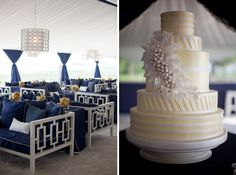 love the colors! yellow, navy, and white