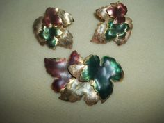 Stunning 3 Piece Set Fall Leaves Brooch by GrammyKayesCreations $19.99 etsy