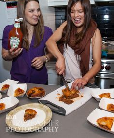 The lovely ladies of Kanga Foods - Aussie Meat Pies for all!