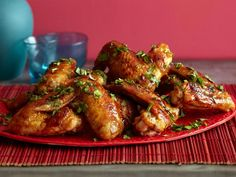 Asian Glazed Wings.  (OMFG, there are lick-the-plate good!)