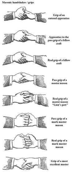 Luciferian sadistic pedophilian  Masonic Illuminati Top Elite rule the world. Agenda: NWO! LEARN Freemason Handshakes//Secret Masonic hand clasp, handshake or handgrip is used between two Freemasons in order to recognize each other.They secretly communicate (showing...they are Brothers of the same Order). This is how they simply identify who is a Mason and who is not. But we can also recognize Masons/Illuminati members by leaning their secret language: symbols, signs, occultist numerology…