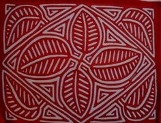 Kuna Indian Hand Stitch Floral Flower Mola-Panama 16062004L