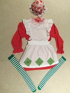 STRAWBERRY SHORTCAKE HALLOWEEN COSTUME WOMENS S M L HOMEMADE | eBay