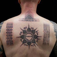 Yantra Tattoo, Rune Tattoo, Sak Yant Tattoo, Khmer Tattoo, Thai Tattoo, Tattoo Touch Up, Back Tattoo, Body Art Tattoos, Sleeve Tattoos