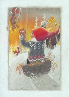 Come On, Get a Good Christmas Series Christmas Fairy, All Things Christmas, Christmas Crafts, Creation Photo, Funny Drawings, Scandinavian Christmas, Christmas Pictures, Naive, Xmas Cards