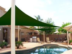 Frugah New 18 Ft Sun Shade Sail Canopy Outdoor Patio Garden Green Triangle Shade Sail, Sun Sail Shade, Shade Sails, Sun Sails, Pergola Swing, Pergola Shade, Carport Shade, Canopy Outdoor, Indoor Outdoor