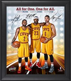 Cleveland Cavaliers Big 3 LeBron James, Kyrie Irving, Kevin Love 15x17 Photo #kevin #love #photo #irving #kyrie #cavaliers #lebron #james #cleveland