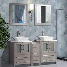 Bathroom Vanities - Walmart.com Single Sink Bathroom Vanity, Modern Bathroom, Bathroom Vanities, Bathroom Light Fixtures, Bathroom Lighting, Black Basket, Kitchen Bath Collection, Vanity Set With Mirror, Mirrors Wayfair