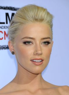 amber heard. soft makeup