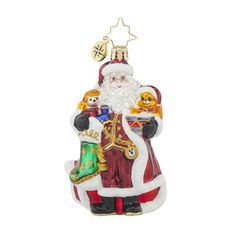Radko Little Gems A CHRISTMAS CLASSIC Santa Gem ornament NEW 2015 – Christopher Radko for SALE - RadkoforSale.com