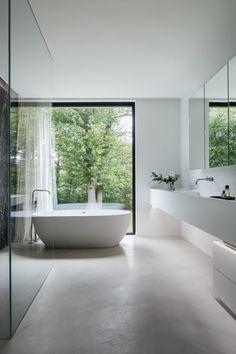 Home Design, Wc Design, Minimalist Bathroom Design, Bathroom Interior Design, Modern Exterior Doors, Bathroom Renos, Beautiful Bathrooms, Interiores Design, Bathroom Inspiration