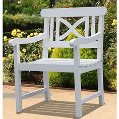 White hot poolside chair.  Style + Price=great buy for summer.  Lucas Arm Chair | World Market