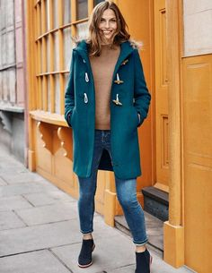 Browse our range of women's coats and jackets. From lightweight jackets to cozy coats in soft wool-blends, discover outerwear for everywhere at Boden. Fall Outfits, Cute Outfits, Stitch Fix Outfits, Navy Women, Bleu Marine, Gentleman Style, Wool Blend, Autumn Fashion, Women's Fashion