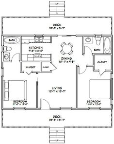 PDF house plans, garage plans, & shed plans. 2 Bedroom House Plans, Cabin House Plans, Beach House Plans, Dream House Plans, The Plan, How To Plan, Small House Floor Plans, Barn Homes Floor Plans, A Frame Cabin