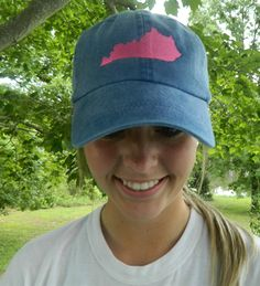 Preppy Embroidered State Baseball Cap | Jane