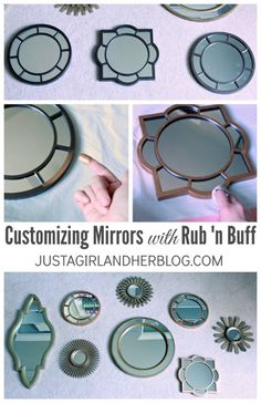 Super simple way to customize a mirror to match your decor!   JustAGirlAndHerBlog.com