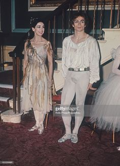 Russian born ballet dancer Rudolf Nureyev (1938-1993) and English ballerina Margot Fonteyn (1919-1991) pictured together as they prepare to meet Queen Elizabeth II at a Royal Gala performance at Covent Garden in London on 26th March 1969.