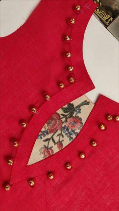Churidhar Neck Designs, Neck Designs For Suits, Neckline Designs, Sleeves Designs For Dresses, Fancy Blouse Designs, Blouse Neck Designs, Hand Designs, Chudidhar Designs, Salwar Neck Patterns