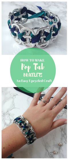 How to Make Pop Tab Bracelets Upcycle Pop Tabs to Create a Beautiful Bracelet A Perfect Craft for Teens and Adults Destination Decoration Can Tab Crafts, Crafts For Teens To Make, Diy And Crafts, Arts And Crafts, Teen Crafts, Soda Tab Crafts, Pop Top Crafts, Toddler Crafts, Upcycled Crafts