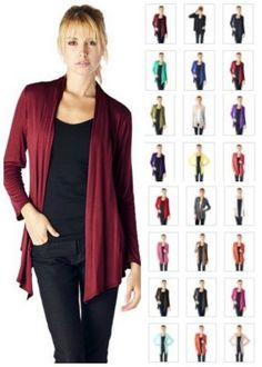 long sleeve cardigan, many colors.  Great style choice!  Modest and modern