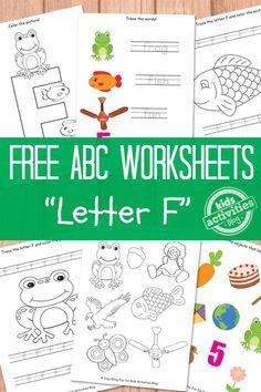 Letter F Worksheets Free Kids Printable - Kids Activities Blog