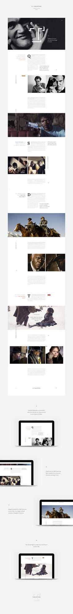 Q. Tarantino — Concept of Personal Website.