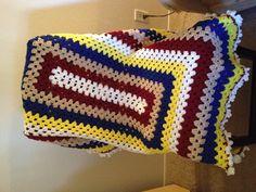 Crochet Americana Granny Square Blanket