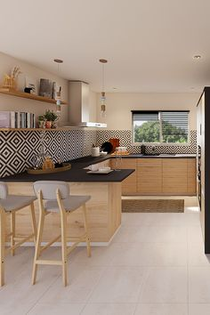 A Complementary Color Palette Elevates a Contemporary Kitchen ~ Best Home Decor Ideas Home Kitchens, Kitchen Design Small, Contemporary Kitchen, Kitchen Remodel, Sweet Home, Home Decor Kitchen, Kitchen Interior, Interior Design Kitchen Contemporary, Kitchen Furniture Design