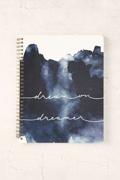 Dream On Dreamer Notebook Shop Dream On Dreamer Notebook at Urban Outfitters tod. - List of the most creative DIY and Crafts Diy Notebook Cover, Notebook Design, Journal Notebook, Dream On Dreamer, Diy Back To School, Cute Notebooks, Diy School Supplies, Journal Covers, Ideas