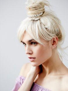 eleganter haarschmuck bun cuff duttring strass #hairstyles