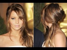 Jennifer Lawrence Inspired Makeup and Hair Tutorial - YouTube