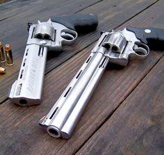 Colt Anaconda and Taurus Raging Bull .44 magnum handguns