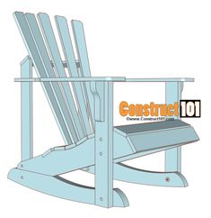 These Adirondack rocking chair plans are broken down into simple steps. The plans include illustrations, patterns, material list, and assembly instructions. Adirondack Rocking Chair, Rocking Chair Plans, Outdoor Rocking Chairs, Toddler Rocking Chair, Adirondack Chair Plans Free, Adorondack Chairs, Cool Chairs, Dining Chairs, Folding Chairs