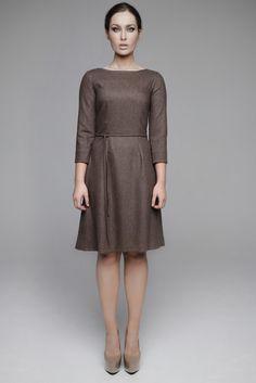 AW12-10002 High Neck Dress, Dresses For Work, Shopping, Fashion, Turtleneck Dress, Moda, Fashion Styles, Fashion Illustrations, High Neckline Dress