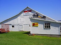 Mike's Barn .. love where he stores his snowmobile.