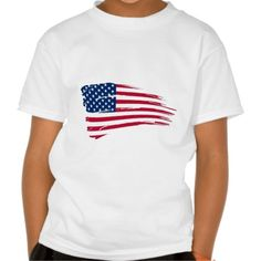 Tattered American Flag Shirt | Zazzle | Leatherwood Design