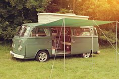 VW Camper with Sun Canopy