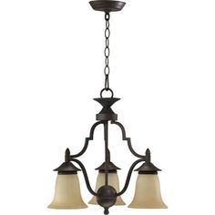 Coventry Three-Light Toasted Sienna Chandelier