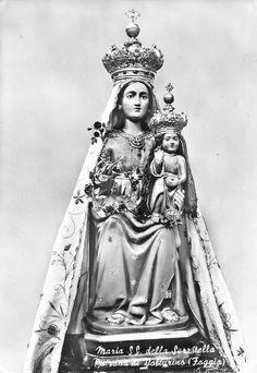 Maria SS. della Serritella The statue of Our Lady of Serritella, the patroness of Volturino in the Italian province Foggia.