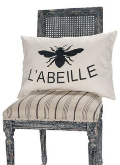 Cotton L'abeille Pillow
