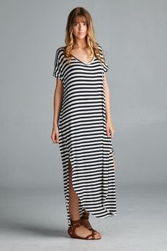 CITY DRESSES | STRIPED MAXI DRESS - product images of