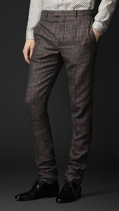 Burberry Prorsum Slim Fit Check Trousers