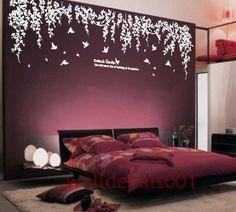 Vinyl wall decals wall stickers tree decals wall murals wall decor home decor - Dream's garden - hashtags} - Dream Bedroom, Home Bedroom, Bedroom Wall, Bedroom Decor, Wall Decor, Bedrooms, Master Bedroom, Bedroom Colors, Modern Bedroom