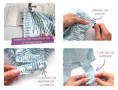 Tutorial que muestra el paso a paso para confeccionar un peto de bebé con patrón gratis incluido