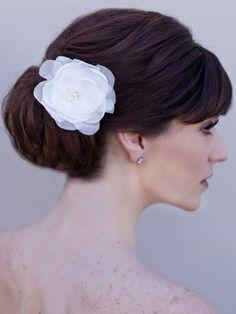 Organza Bridal Hair Flower #flower