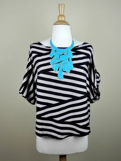 Striped Top with Cutout Shoulder Details - $26.00 : FashionCupcake, Designer Clothing, Accessories, and Gifts