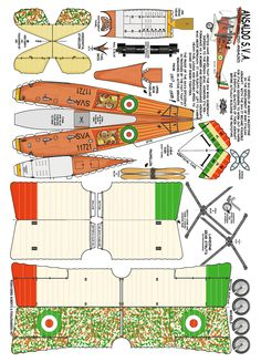 Ansaldo S.V.A  WWI Bomber : Instruction detail http://www.fiddlersgreen.net/models/aircraft/Ansaldo-SVA.html