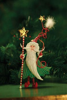 Patience Brewster - Santa Wizard Ornament - Wooden Duck Shop